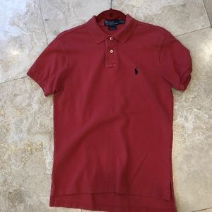 2/$35 Ralph Lauren Polo - red Orange - custom fit